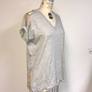 Oversized cold shoulder All Saints tee with slits